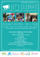 Community Celebration Event Saturday 28th May, 2pm - 4.30pm @ Canon's House Outdoor Space, Mitcham   Come along to this special community event bringing together children/young people and their families...